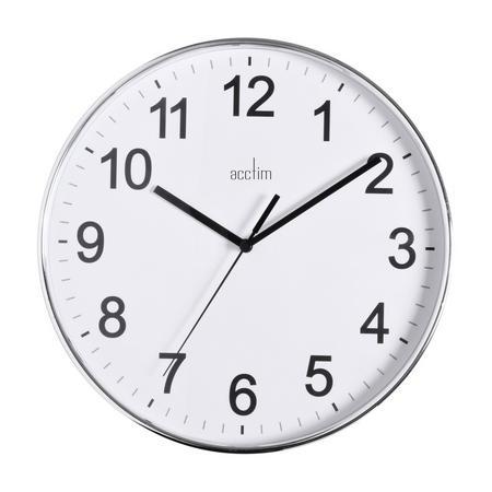 Crewe Wall Clock 25cm Silver-Tone