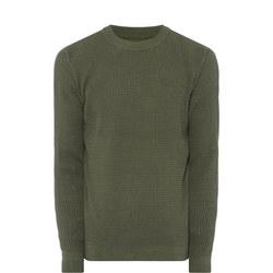 Musco Textured Knit Jumper Green