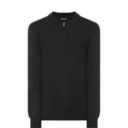 Textured Half-Zip Sweater