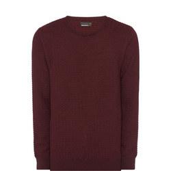 Textured Wool Crew Neck Sweater