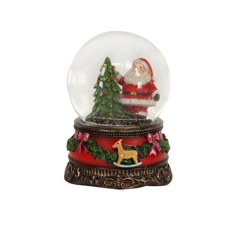Santa with Tree Medium Dome