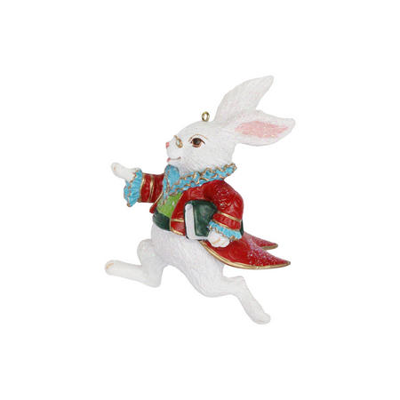 Resin White Rabbit Decoration