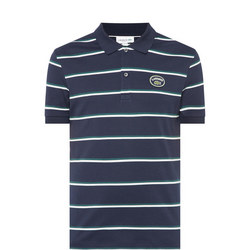 Retro Stripe Polo Shirt
