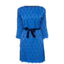 Geometric Fringed Mini Dress
