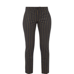 Cropped Pinstripe Trousers