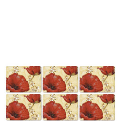 Poppy De Villeneuve Placemat Set of 6