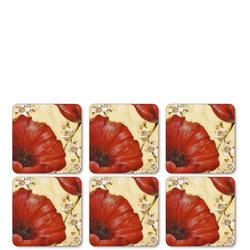 Poppy De Villeneuve Coasters Set of Six