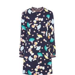 Floral Print Frilled Mini Dress
