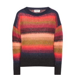 Mohair Blend Stripe Sweater