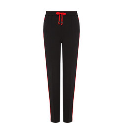 Drawstring Side Stripe Sweat Pants