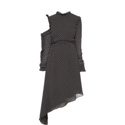 Heart Print Asymmetric Dress