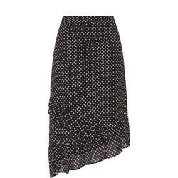 Ruffled Heart Print Skirt