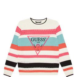 Girls Striped Sweater