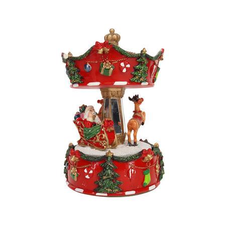 Santa Sleigh Musical Carousel