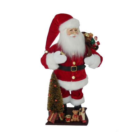 Kringle Klaus Santa With Sack 18 Inches