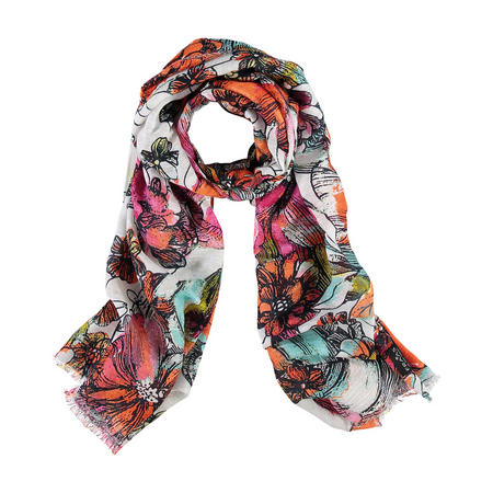 Graphic Floral Scarf