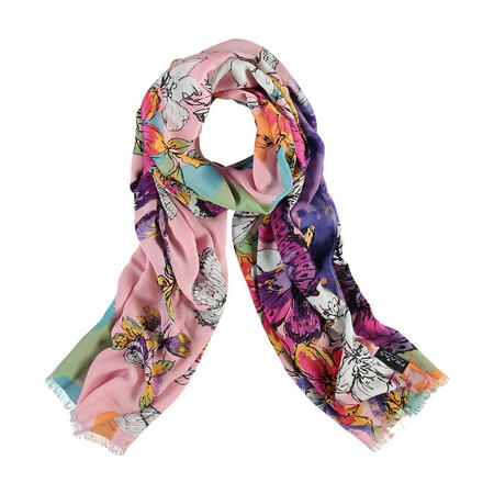 Floral Butterfly Print Scarf