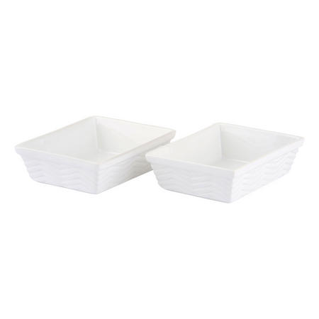 Quick Recipe Set of 2 Individual Rectangular Roasters