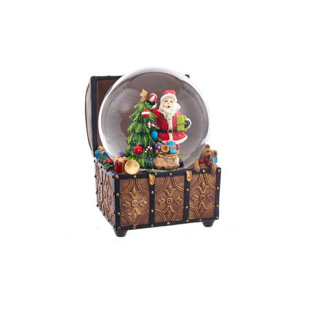 Musical Santa Water Globe 3.9 Inches