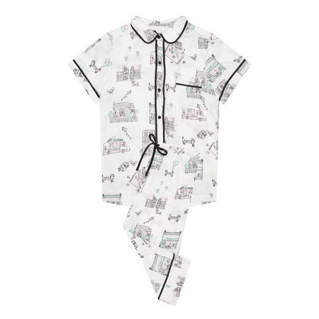 Main Street Pyjama Set White