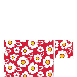 Placemat & Coaster- Red Floral