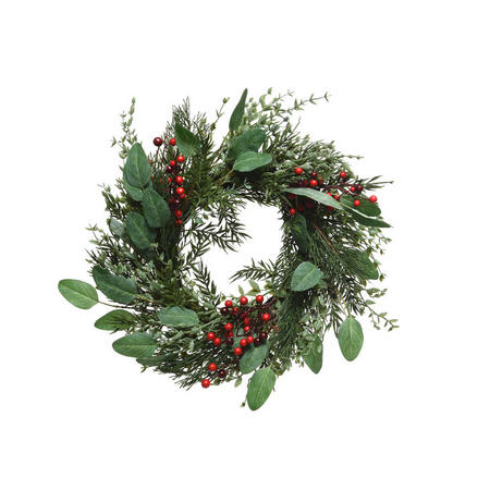 Red Berry Wreath 60cm
