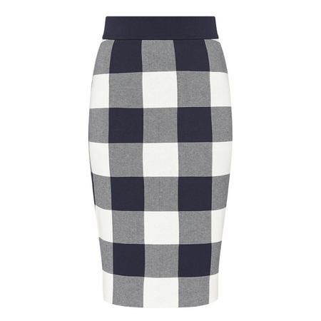 Gingham Jacquard Skirt