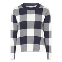 Gingham Crew Neck Sweater