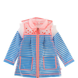Girls Striped Rain Macintosh