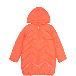 Girls Chevron Quilted Puffa Coat
