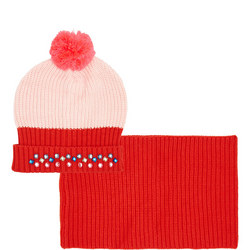 Girls Knitted Hat and Snood Set