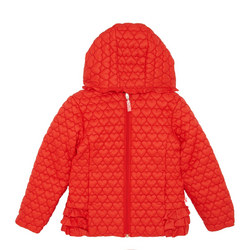 Girls Heart Puffer Coat