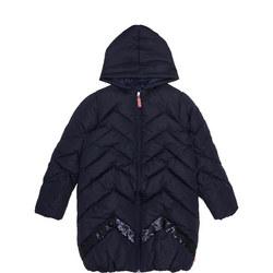 Sequin Chevron Puffa Jacket