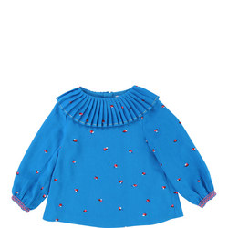 Pleated Collar T-Shirt