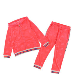 Girls Heart Velour Tracksuit