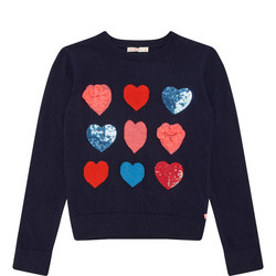 Ruffle Heart Sweater