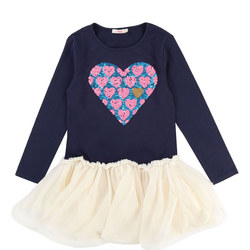 Sequin Heart Tutu Dress
