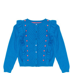 Girls Ruffle Bobble Cardigan