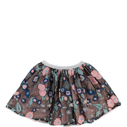 Embroidered Floral Tutu Skirt