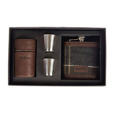 Tartan Hip Flask Gift Set