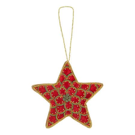 Velvet Star Tree Decoration