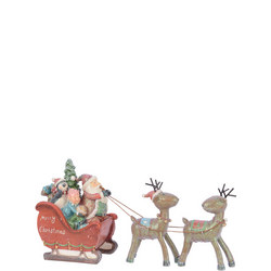 Sleigh With Deer Ornament
