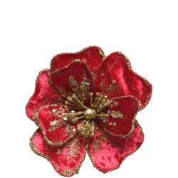 Velvet Flower With Clip 14Cm
