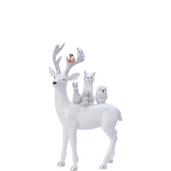 Deer With Animals Ornament 7Cm