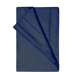 200 Thread Count Egyptian Cotton Flat Sheet Powder Navy
