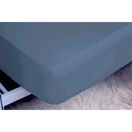 200 Thread Count Egyptian Cotton Fitted Sheet Steel
