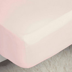 200 Thread Count Egyptian Cotton Fitted Sheet Powder Pink