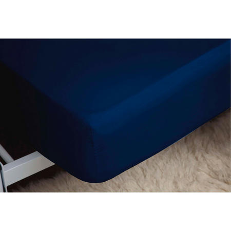 200 Thread Count Egyptian Cotton Fitted Sheet Navy