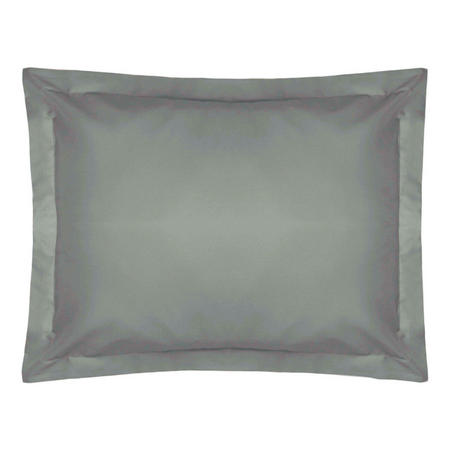 200 Thread Count Egyptian Cotton Oxford pillowcase Powder Silver