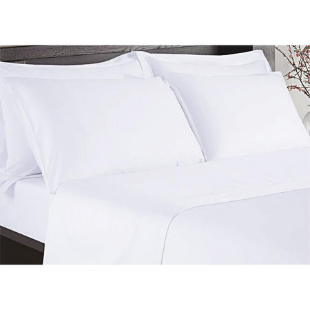 Hotel 200 Thread count Flat Sheet White